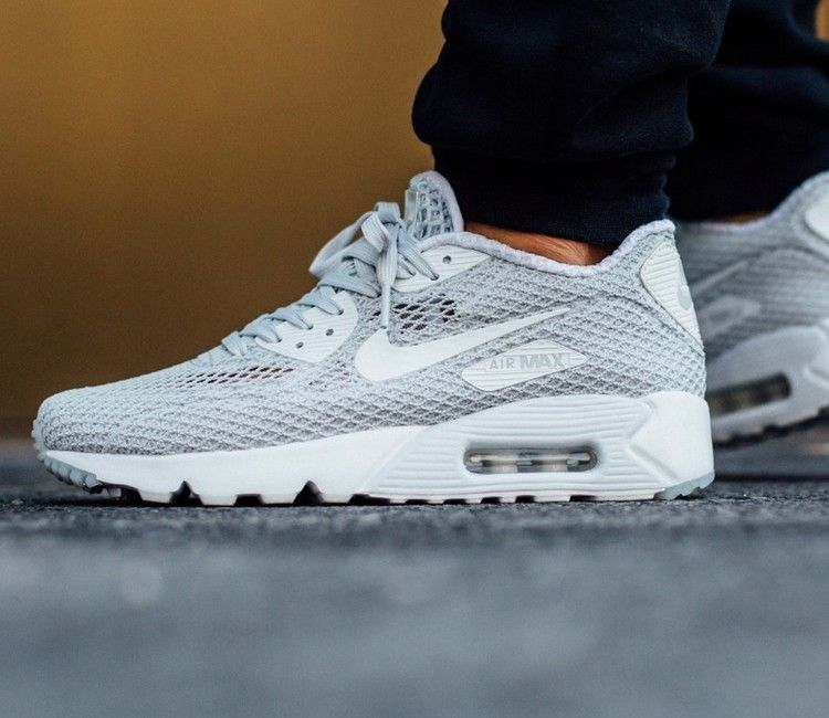 Nike Air Max 90 Ultra Breathe Plus QS - Pure Platinum / White - Racer Blue