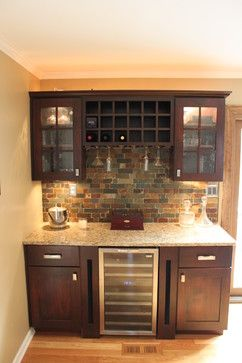 Dry Bar Designs Traditional Maple Kitchen
