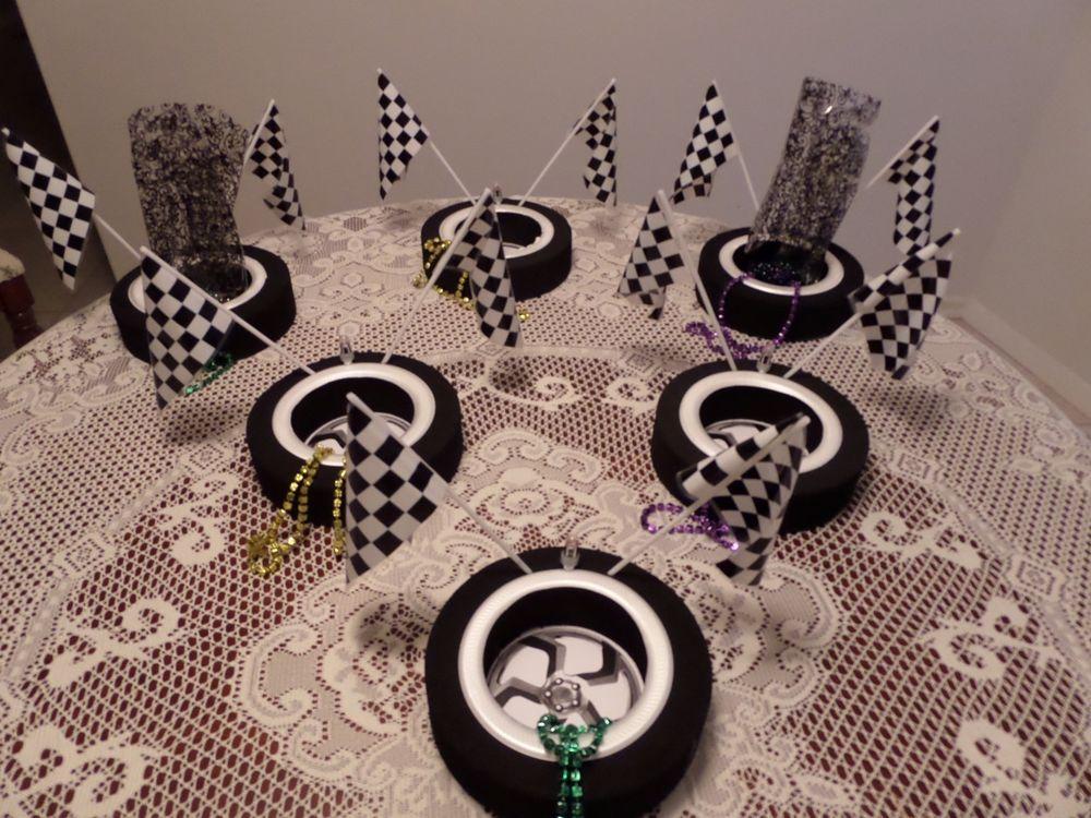 Birthday centerpiece car theme race super