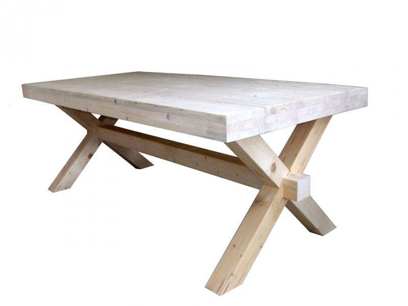 Steigerhout kruispoot tafel steigerhout bouwpakket trendyard