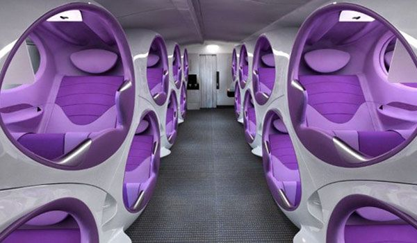 'Air-Lair' - The future of airplane seating. Designers are getting creative with a concept for ultra private pod seats on airlines that could give premium travellers more privacy than ever before.
