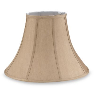 Large 17 Inch Fabric Bell Lamp Shade In Beige Bed Bath Beyond Lamp Shade Beige Lamps Small Lamp Shades