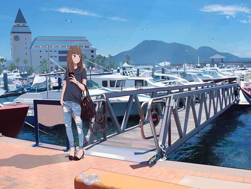Harbor [Original] Moescape Building, Cute anime