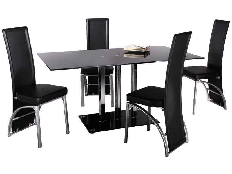 Magnifique Chaise De Salon Noir Décoration Française Pinterest - Chaises chez conforama pour idees de deco de cuisine