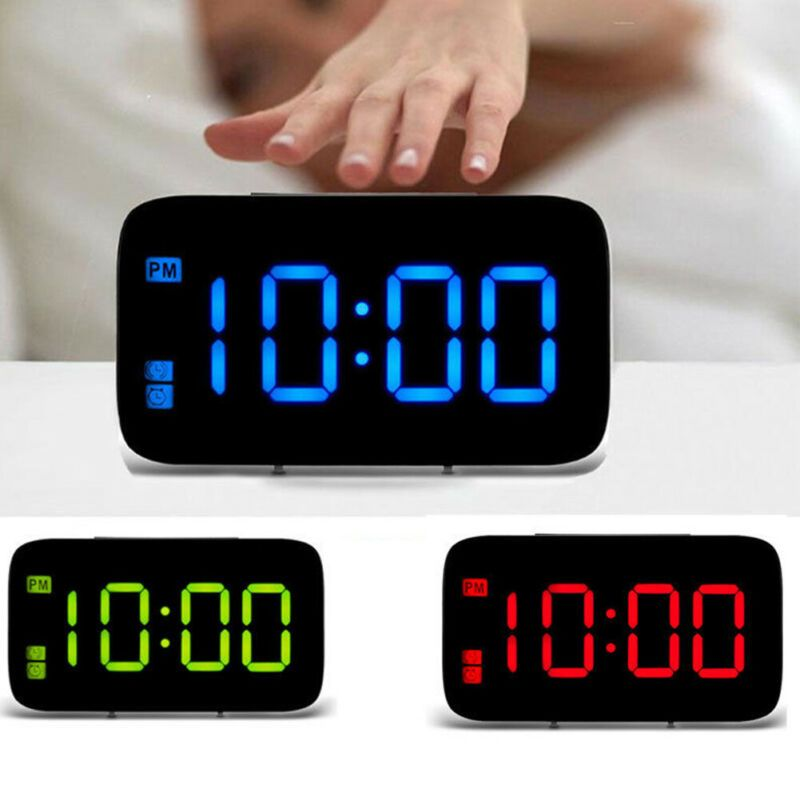 Decorative Alarm Office Voice Control Digital Clock Home Battery Powered Led Alarm Clocks Clock Radios Ebay L In 2020 Led Alarm Clock Alarm Clock Desk Alarm Clock