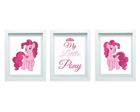 My Little Pony Cute Pony Decor Girls Nursery Art By Fmdesignstudio