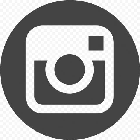 Circle Round Dark Gray Instagram Logo Instagram Logo Gray Instagram Photo Logo