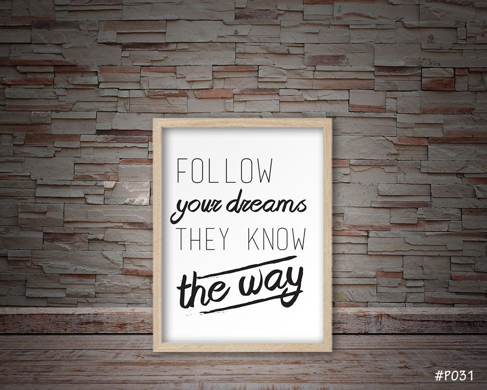 Follow your dreams home decor wall decor p031 by follow your dreams home decor wall decor p031 by digitopiadesign on etsy amipublicfo Image collections
