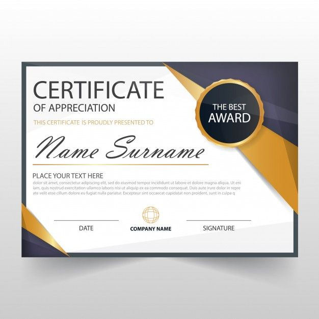 Download Modern Horizontal Certificate Template For Free