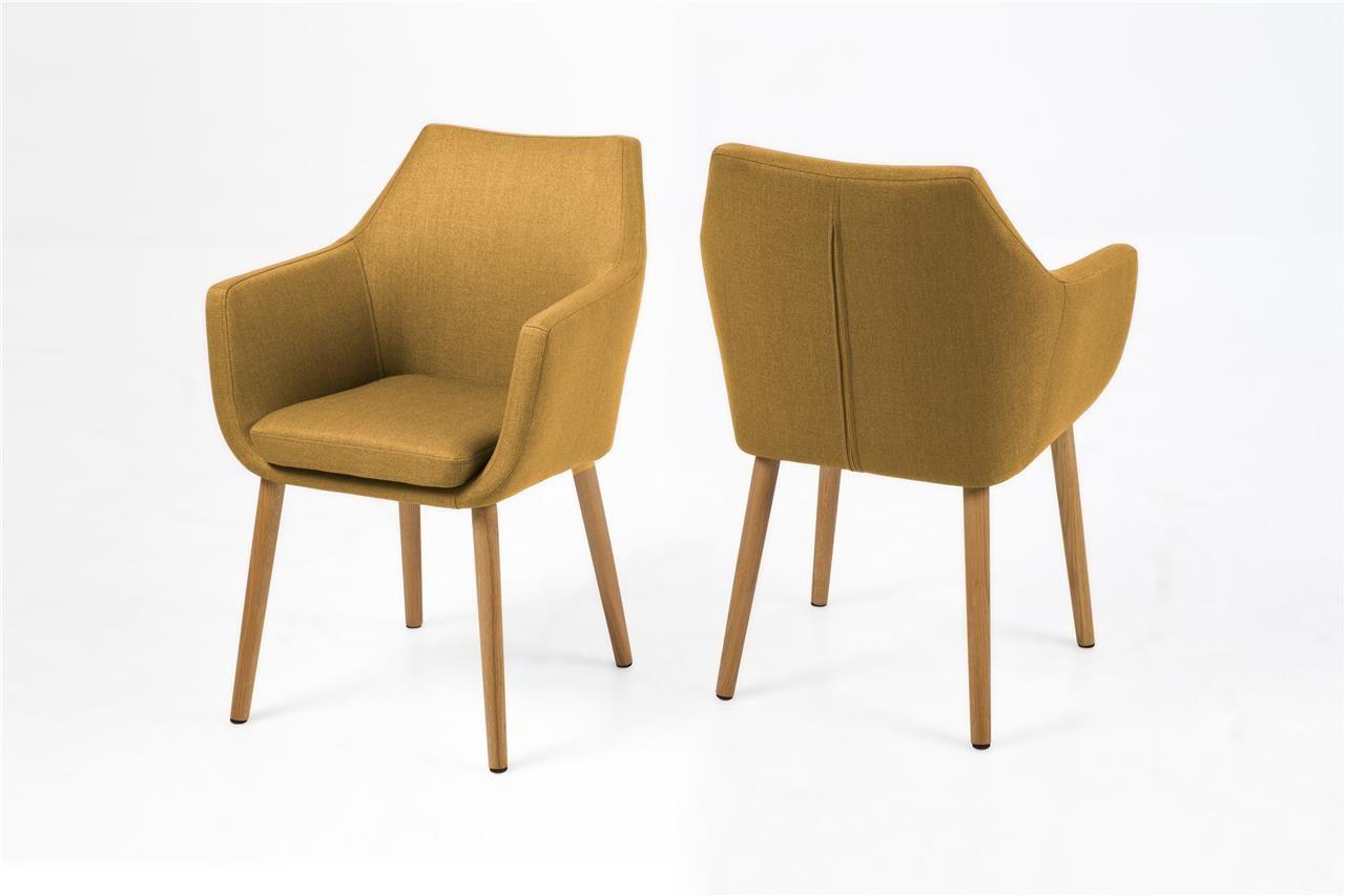 Woood fauteuil sara fluweel okergeel fauteuils banken