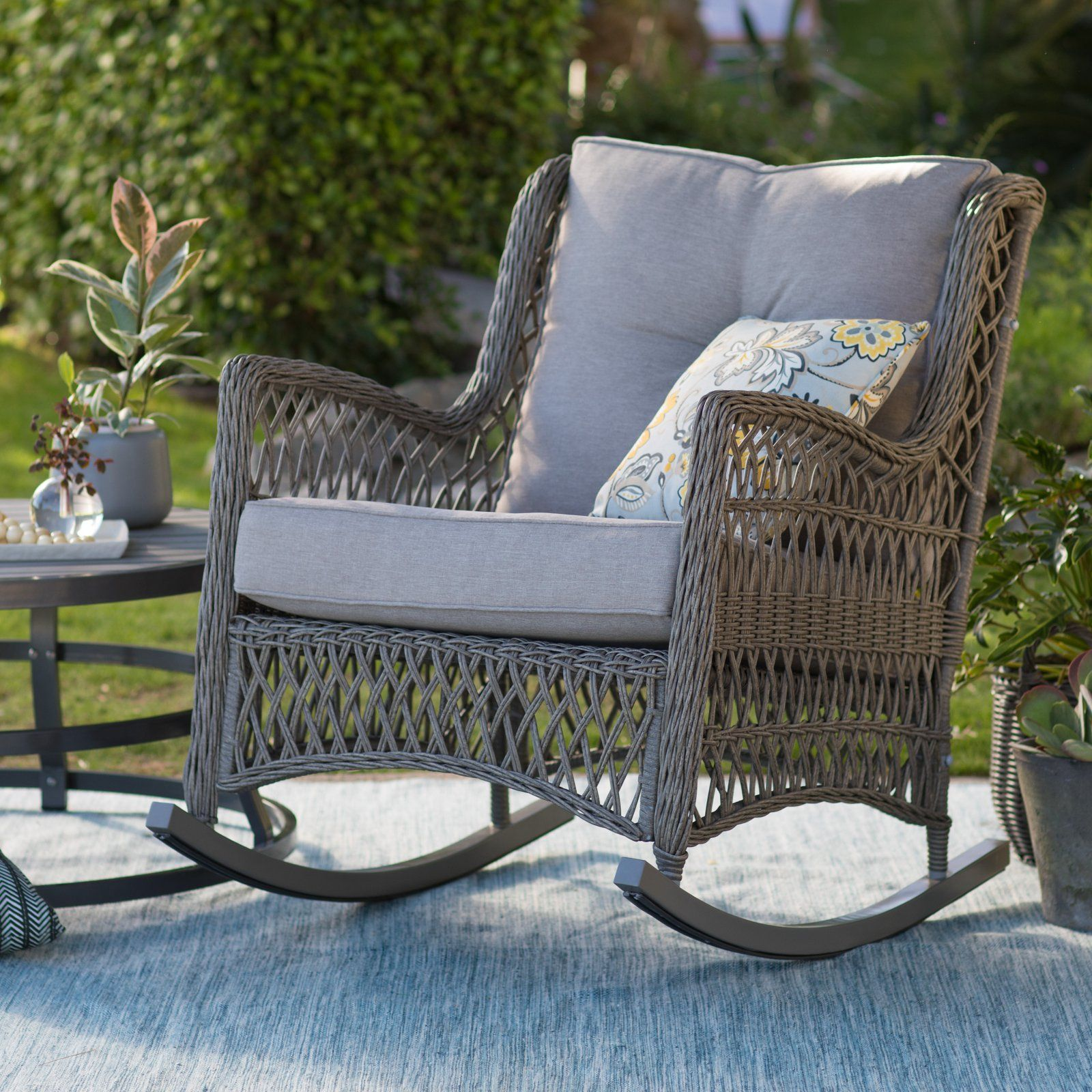Patio & Garden in 2020 (With images) Wicker rocking
