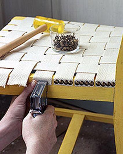 Reparacion reciclar silla proyectos pinterest - Clavos para tapizar ...