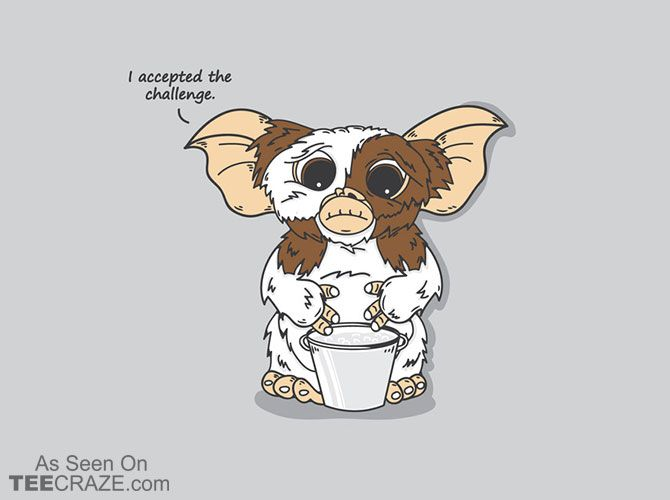 Ice Bucket Challenge T-Shirt - http://teecraze.com/ice-bucket-challenge-t-shirt/ -  Designed by TurboRat    #tshirt #tee #art #fashion #Gremlins