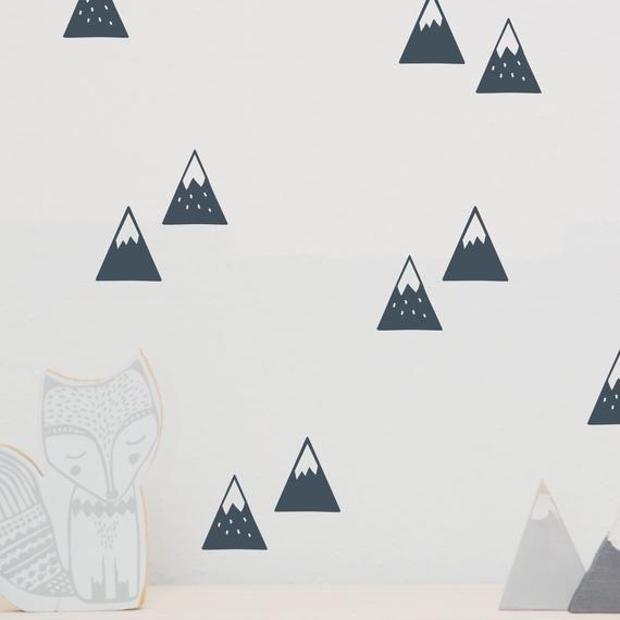 """Wandtattoo Wandsticker """"Berge"""" Mountains, Aufkleber"""