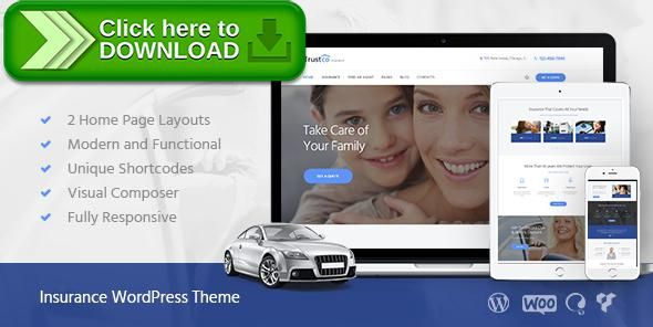 insurance wordpress theme nulled  Free nulled Insurance Agency