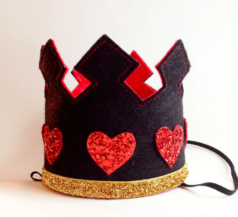 queen of hearts crown headband largelittleblueolive on