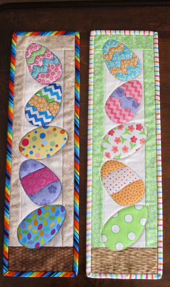 Easter Egg quilt wall hanging made to order by QuiltingByJan ...