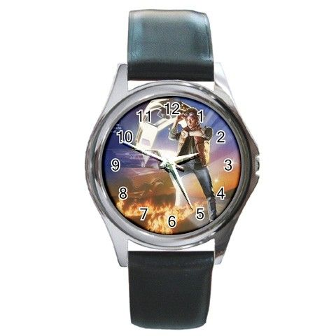 Back to the Future 1 Round Metal Watch | Sci-Fi / monster