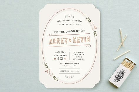 The Union Wedding Invitations by Dana Beckwith at minted.com