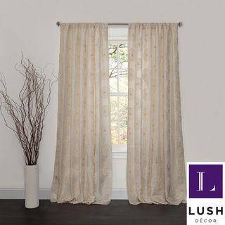 Lush Decor Samantha Ivory 84-inch Curtain Panel