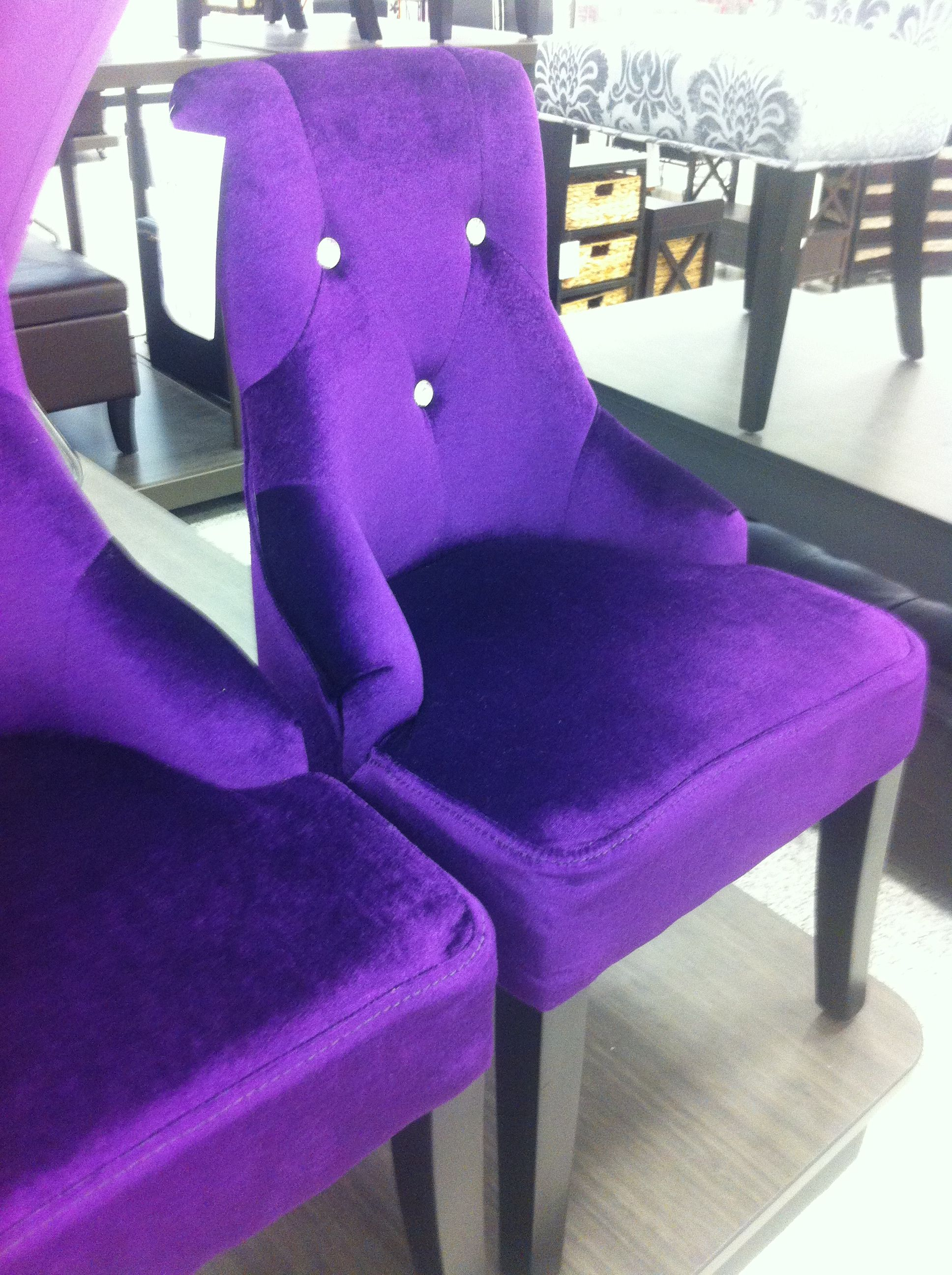 Child size purple velvet chairs sooo cute at ross for 30