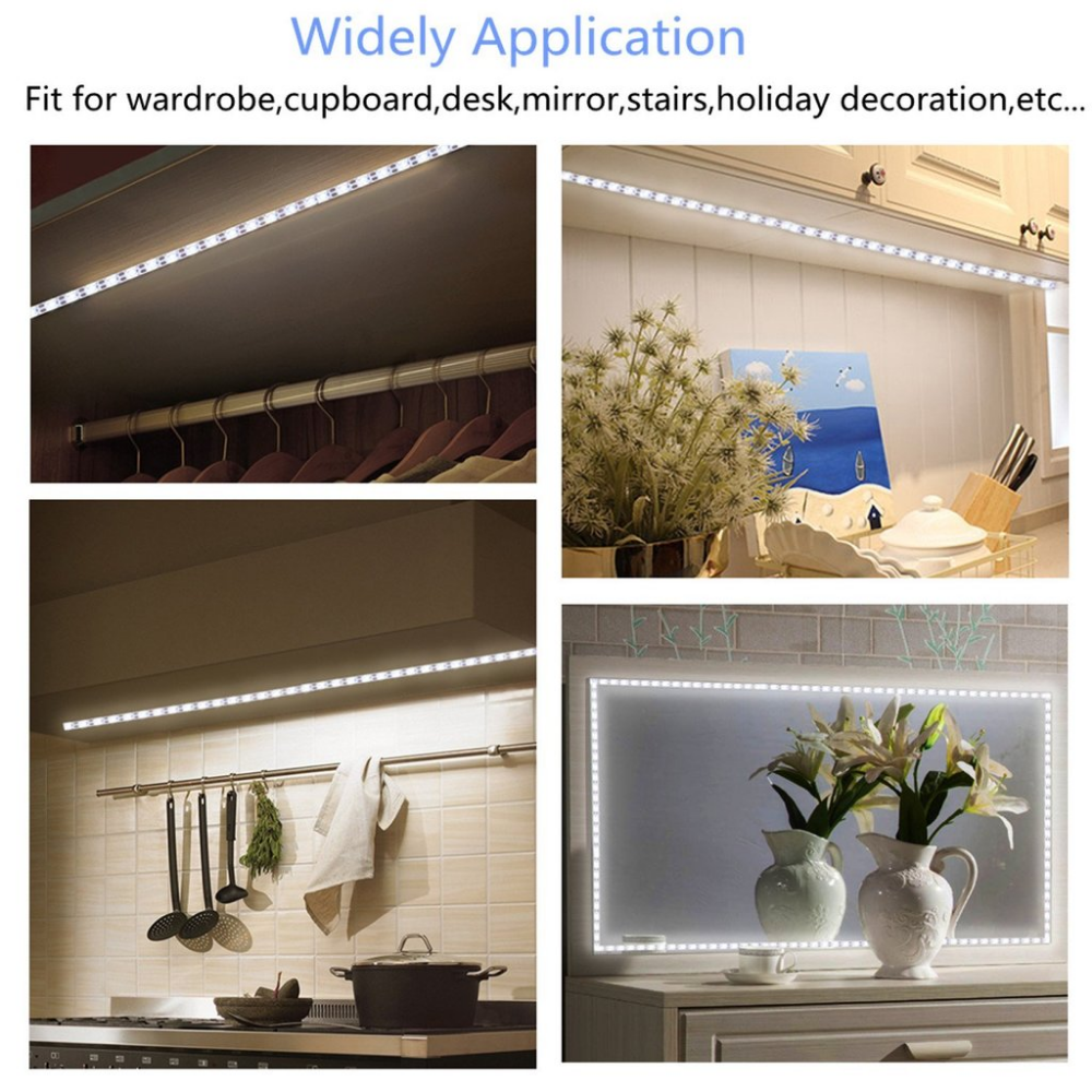 Led Vanity Mirror Light with Gesture Sensing Dimmer and USB