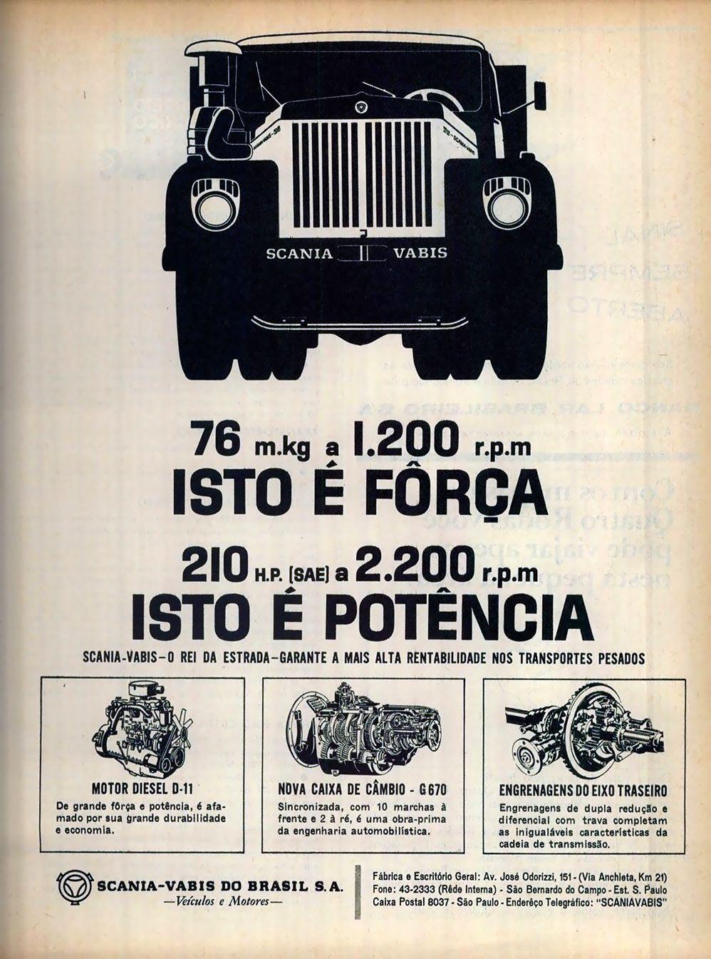Propaganda Scania Vabis Ed 59 4r 1965 Scania Carros E