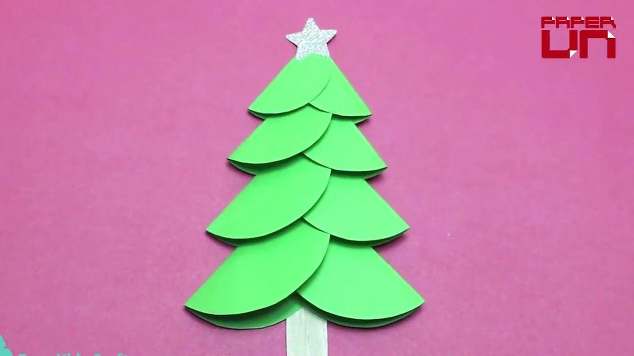 How to make a paper christmas tree for kids christmas diy for kids