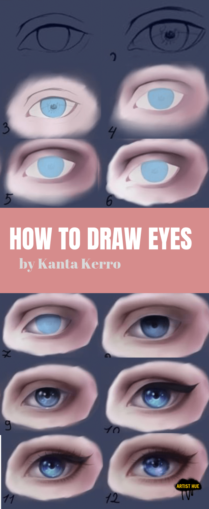How to draw eyes | How to draw tutorials | step by step tutorials | digital art | how to draw like a pro