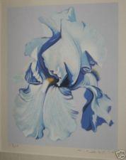 Lowell Nesbitt Framed Giant Iris Serigraph 157/250 Pop Art Flower Mid Century