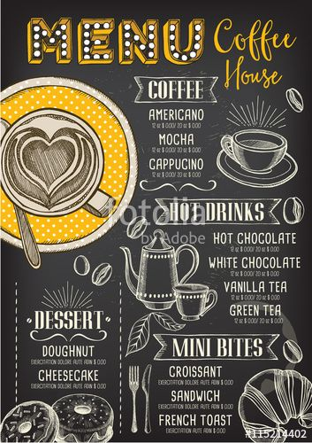 115214402 Coffee Shop Menu Coffee Restaurants Cafe Menu Boards