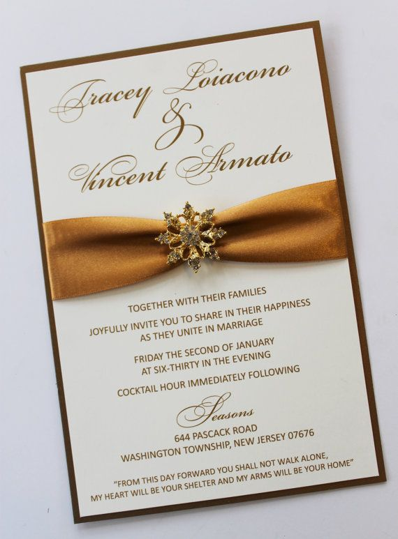 6x9 Vintage Gold Wedding Invitation with  by atouchofsunshine4