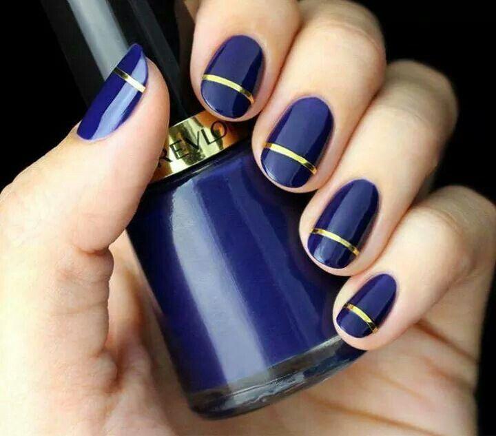 Azul marino hermoso   uñas   Pinterest   Azul marino, Azul y Hermosa