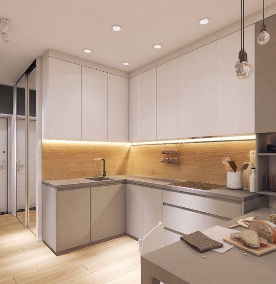 Кухня цвета капучино, особенности интерьера с фото   Кухня ...