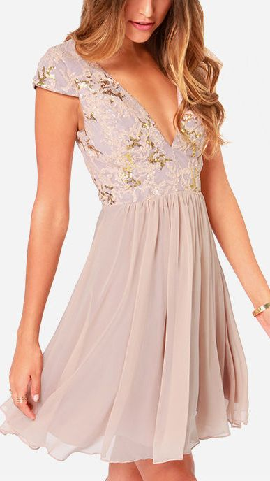 Lilac Sequin Dress