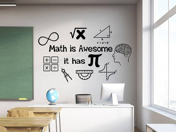 math wall decal, math wall decor, math classroom decor, math teacher, math teacher gift, math decal, math decor, classroom wall decal #meettheteacherideas