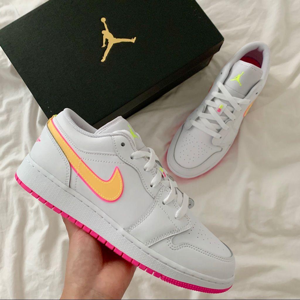 Air Jordan 1 Low Edge Glow Gs 6y Jordan 1 Low Air Jordans Jordan 1