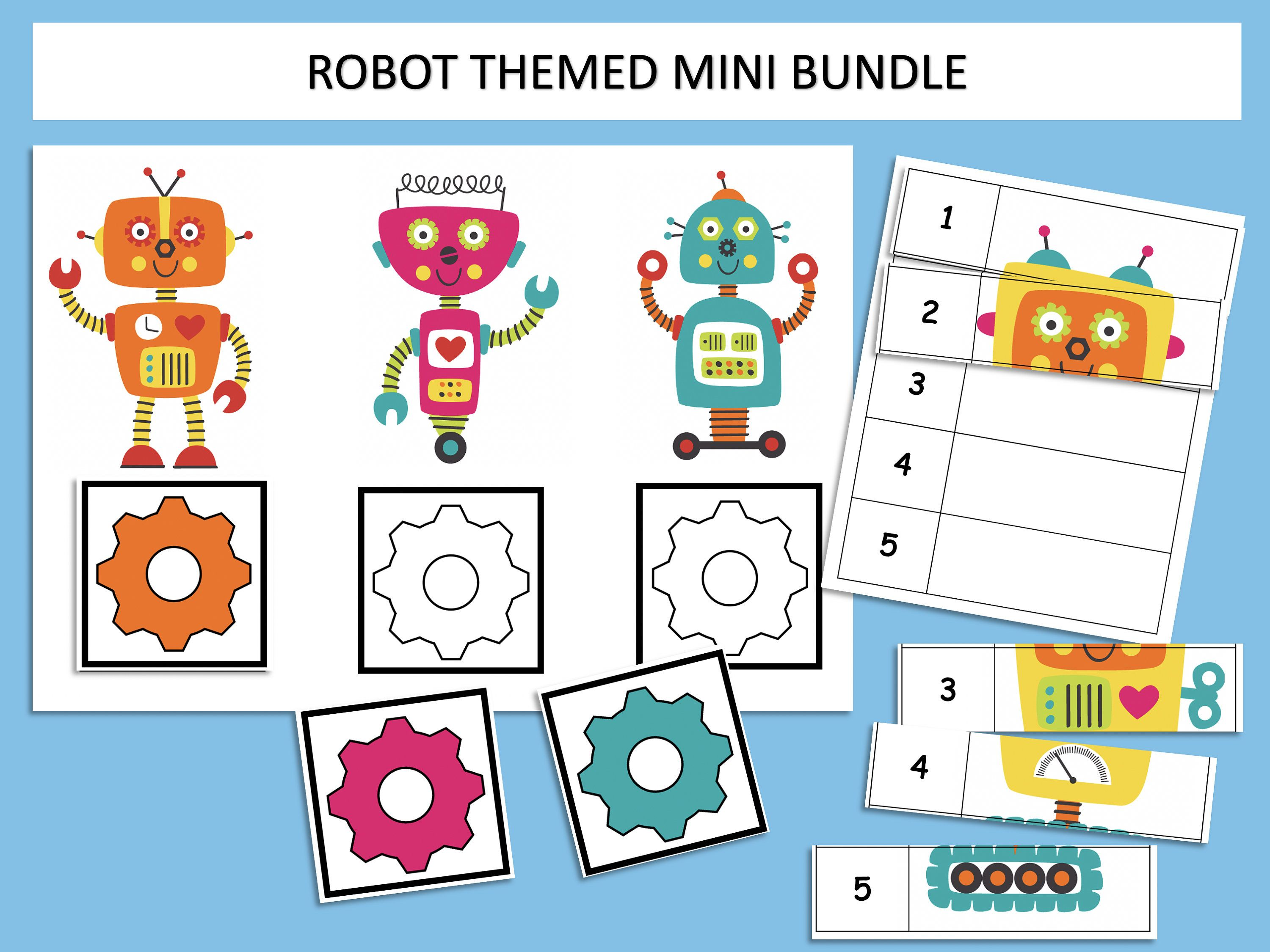 Robot Themed Printable Busy Book Mini Bundle Toddler Preschool And Kindergarten File Folder Game Homeschool Learning Instant Download In 2020 Busy Book Shapes Kindergarten Homeschool Learning [ 2250 x 3000 Pixel ]