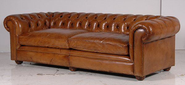 Italian Leather Tan 3 Seater Chesterfield Sofa Vintage Leather Sofa Italian Leather Sofa Leather Sofa Chair