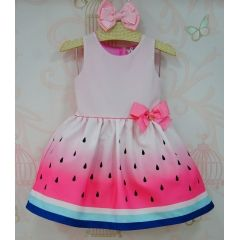 Vestido Infantil Melancia Mon Sucré