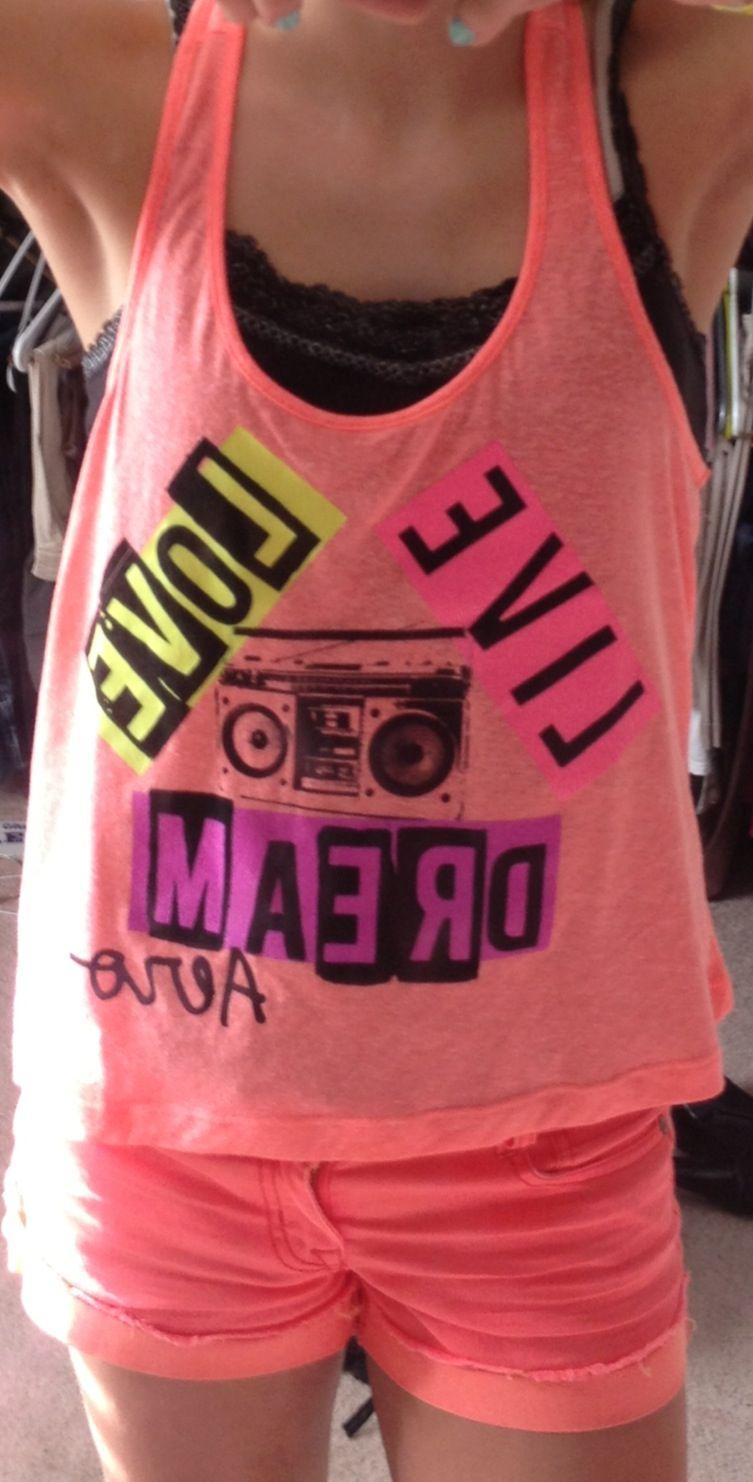 e1df3d3db25c Aeropostale top and Walmart shorts make a CUTE Summer outfit.