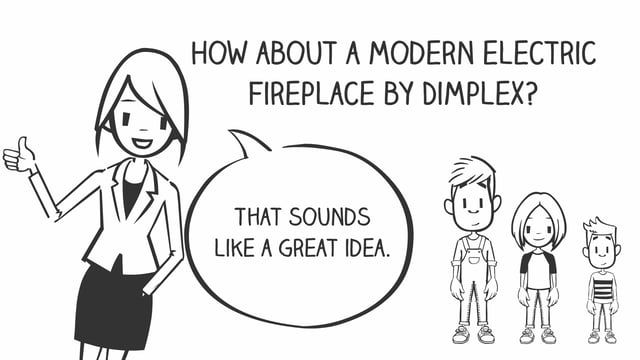 www.dimplex.com is where you go when you want a worry free fireplace- No gas, no odor, no safety issues. What you do get is all of the ambiance of a beautiful fireplace that's easy to install practically anywhere in your home.