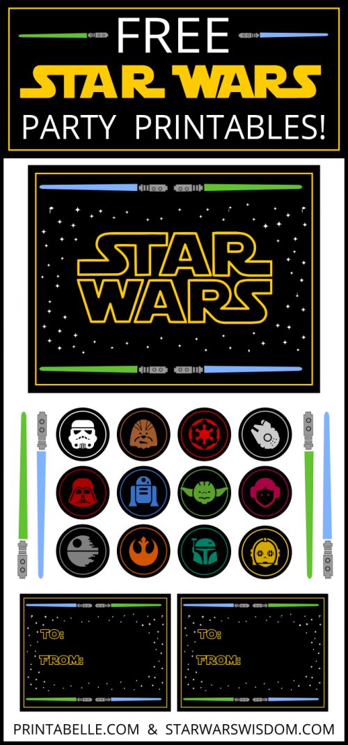 Star Wars Inspired Party Printables Star Wars Party Star Wars Party Printables Star Wars Theme Party