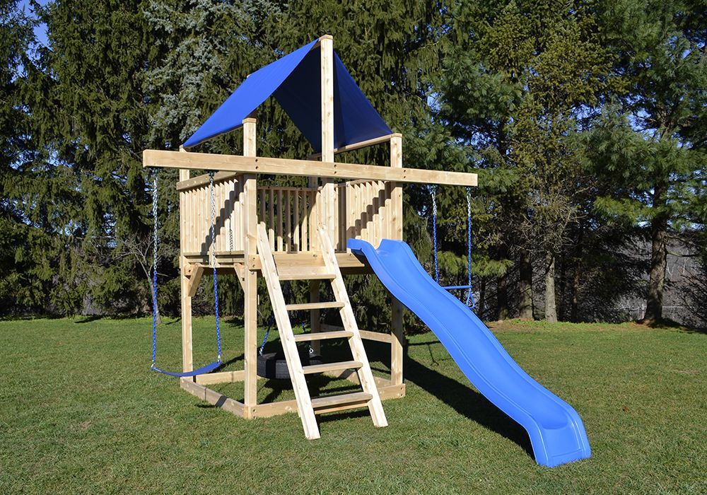 Cedar Swing Sets - The Bailey Space Saver in 2020 ...