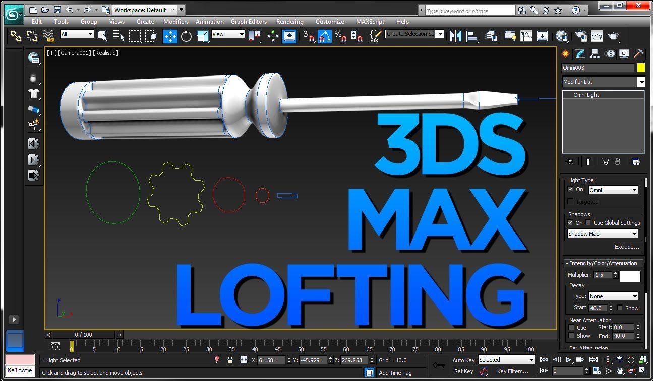 3ds Max Loft Tutorial Screwdriver 3ds Max Tutorials 3ds Max 3d Modeling Tutorial