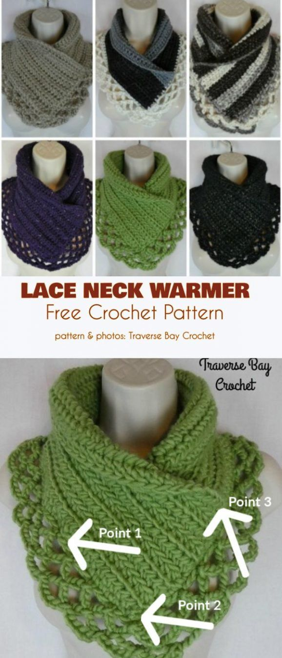 Neck Warmer and Cowl Free Crochet Patterns