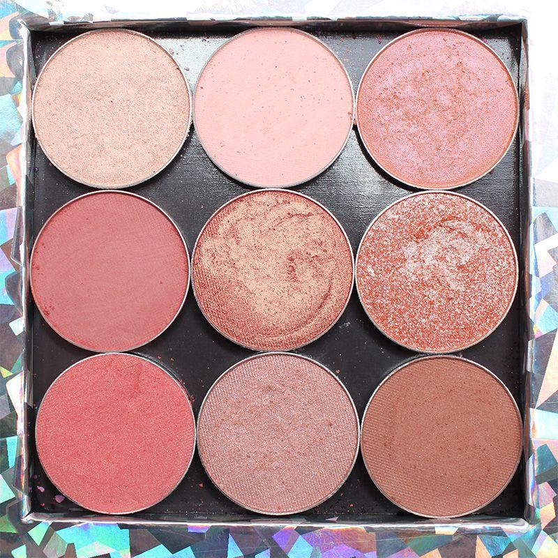 Makeup Geek Peach Palette. Farbfelder auf blasser Haut, perfekt für Kapuzenaugen