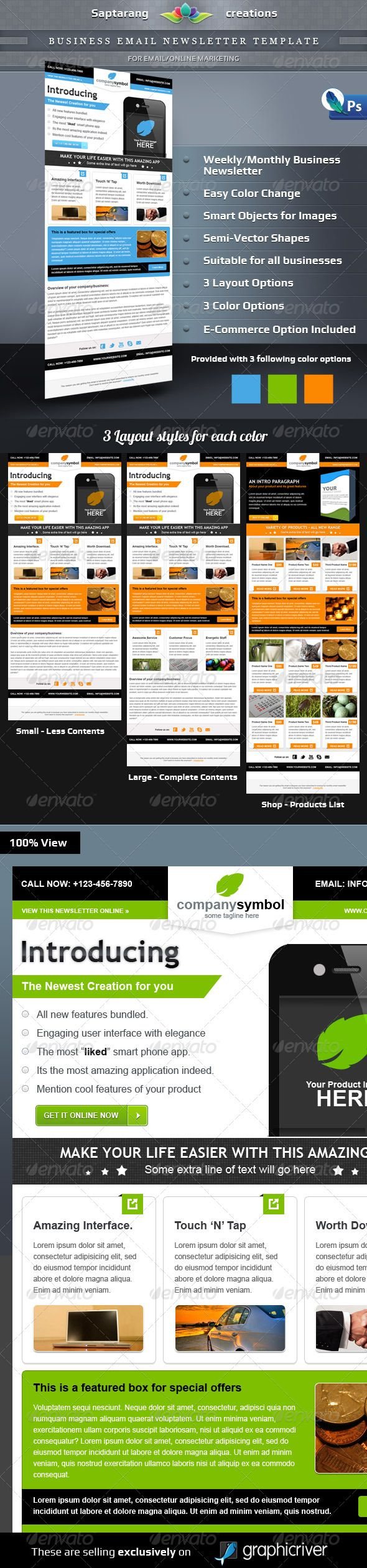 business email newsletter template e newsletters web elements