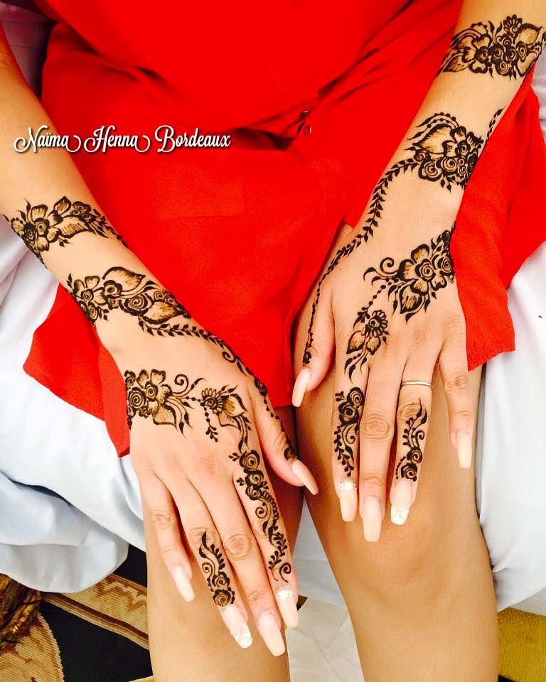 henné indien mains bras florale tatouage au henné naturel sur