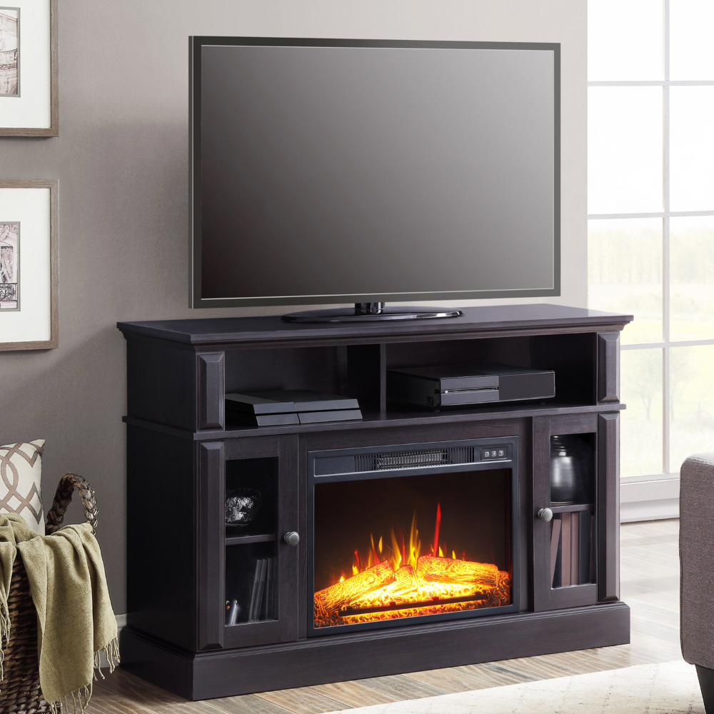 Home Media Fireplace Whalen Tv Stand Wooden Tv Stands